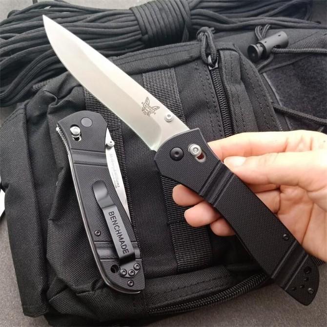toptancı Benchmade Browning710 Flipper Titanyum Pocket Katlama Bıçak 440C 57HRC Taktik Kamp dişli Av Survival Bıçakları EDC aracı