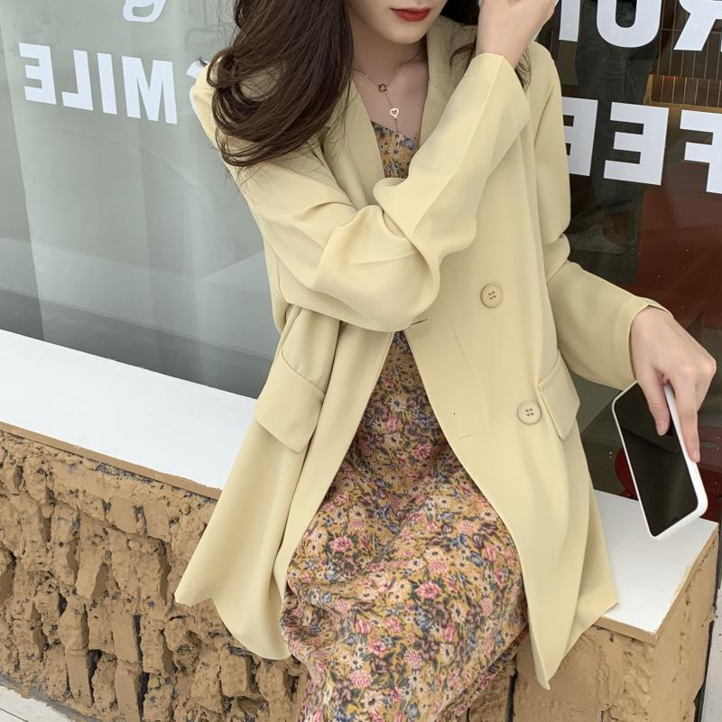 2021 Nouveaux Couleurs Printemps Summer Summer Femmes Manches Simple Castry Casual Jacket Casual Lady Blazer Outwear Chiffon Manteau 3mcj