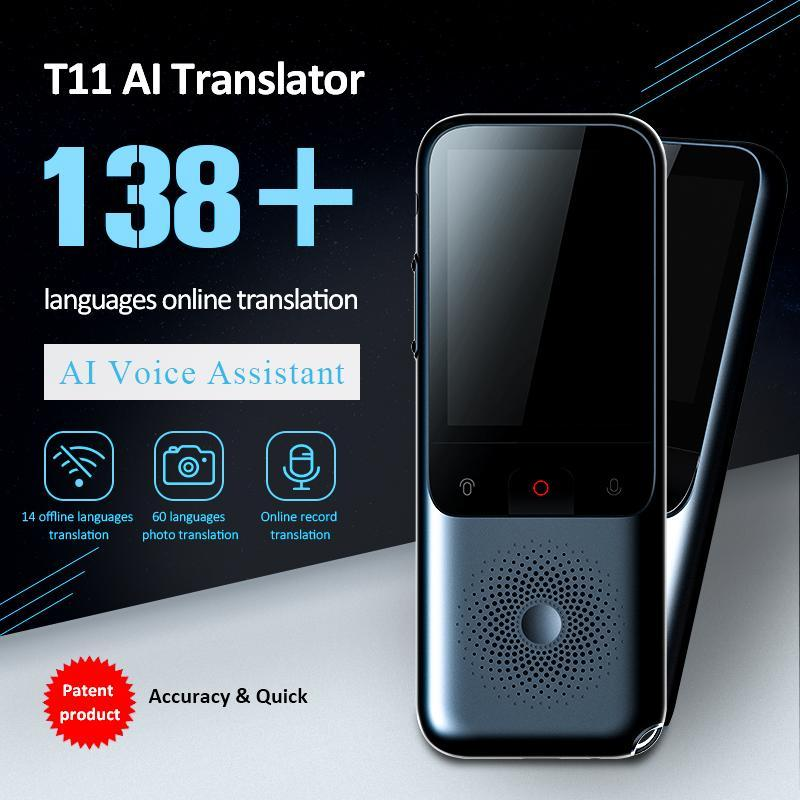 2020 Nuovo T11 portatile Audio Translator 138 Lingua Traduttore intelligente Offline in tempo reale Smart Voice Ai Foto vocale