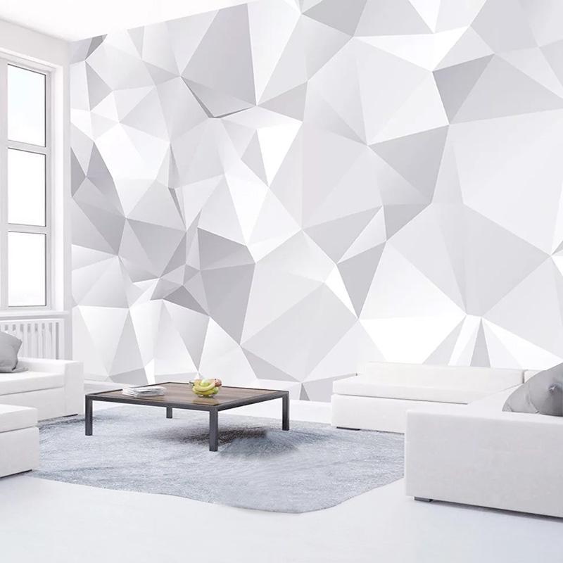 Duvar Kağıtları Özel Duvar Kağıdı 3D Soyut Sanat Geometrik Po Duvar Kağıdı Oturma Odası TV Arka Plan Ev Dekorasyonu 3 D Papel de Parede