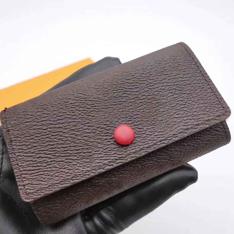 Wholesale designer portefeuille en cuir multicolore monnaie sac à main courte polychromatique dame titulaire classique mini poche