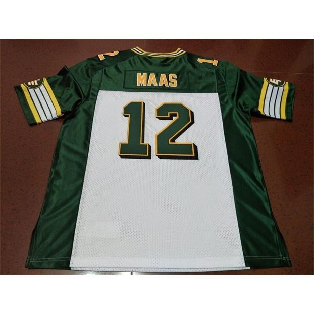 Benutzerdefinierte 123 Jugendfrauen Vintage Edmonton Eskimos # 12 Jason Maas Football Jersey Größe S-4XL oder benutzerdefinierte Name oder Nummer Jersey
