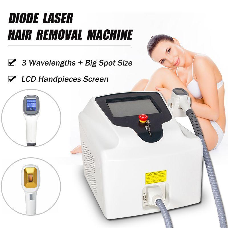 Doide portable de haute qualité Laser 808nm Allemagne Barres laser Épilation des cheveux Toute la réduction des cheveux Beauty Device Spa et salon de beauté