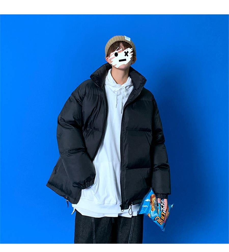 IG QLI Instagram зима плюс для мужчин Корейский рынок хлопчатобумажную куртку Свободная пара читайте хлопчатобумажную куртку для женщин Scooloy S-3XL # 19 # 588111