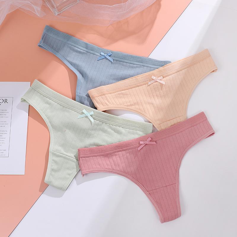 Underpants femininos de umka sexy lingerie algodão g-string calcinha confortável tanga tanga roupa interior cueca mulheres string senhoras íntimo