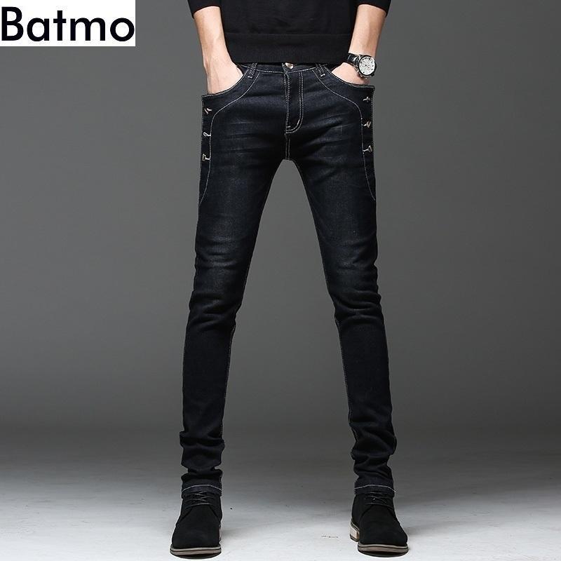 Batmo Yeni Varış Yüksek Kalite Rahat Ince Kot Erkekler, erkek Kalem Pantolon, Skinny Jeans Erkekler 8905 201111