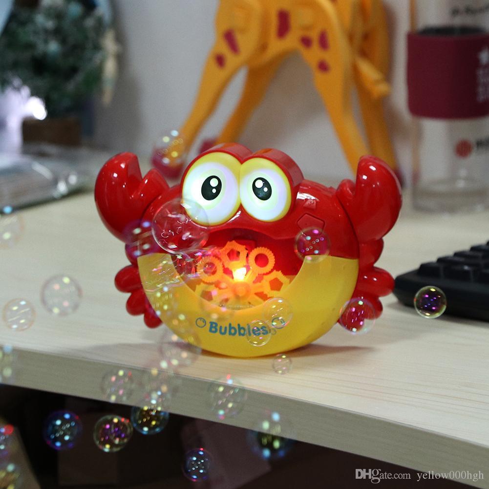 Kabarcık Yengeçler Müzik Karikatür Bebek Banyo Oyuncakları Küvet Sabun Makinesi Kabarcık Yengeçler Komik Bebek Banyo Oyuncak Kabarcık Çocuk Sabun Makinesi