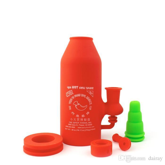 Lindo agua de silicona bong tubos de agua extraíbles reciclador dab rígido de silicona plataforma dab de silicona para humo bongs irrompibles