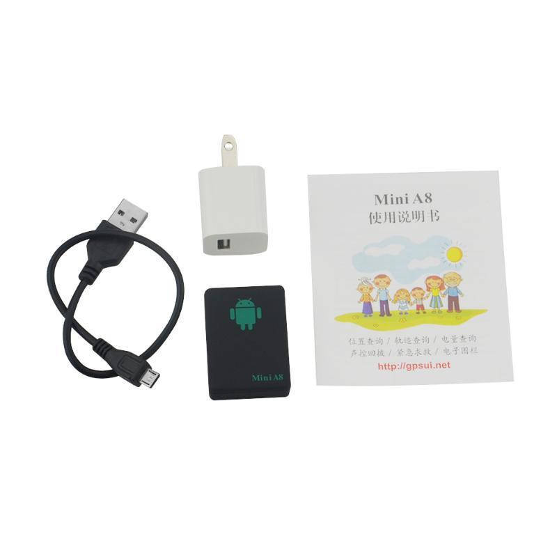 عالية الجودة البسيطة A8 Rastreador Veicular جي بي آر إس المقتفي محدد في الوقت الحقيقي سيارة الاطفال الحيوانات الأليفة GSM / جي بي آر إس / تتبع جهاز GPS LBS