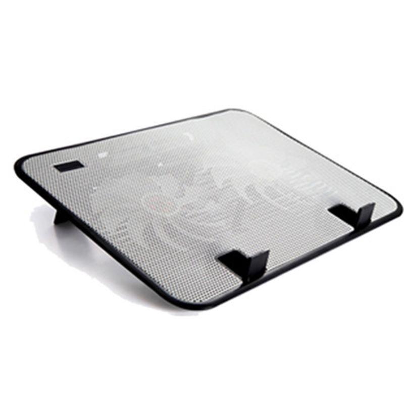 Панель металла двойной вентилятор ноутбука Cooler Бесшумный Laptop Cooling Pad Подставка для 14 \»PC