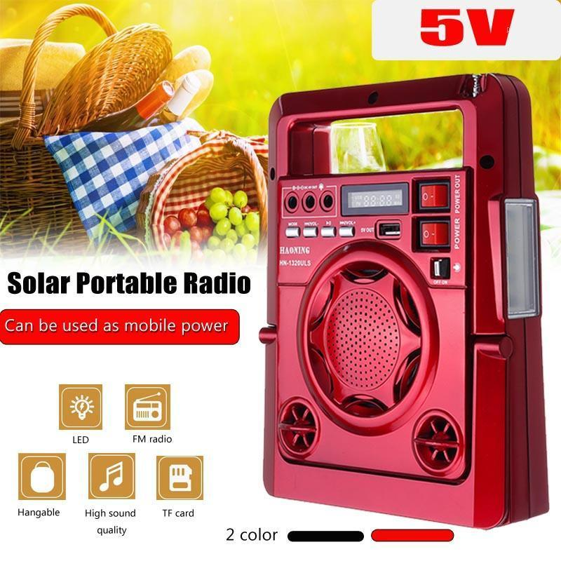 Outdoor Solar Dynamos AM/FM Radio Power Bank with LED Lamp TF USB Speaker Power Bank Function For Phone Emergency Supply1