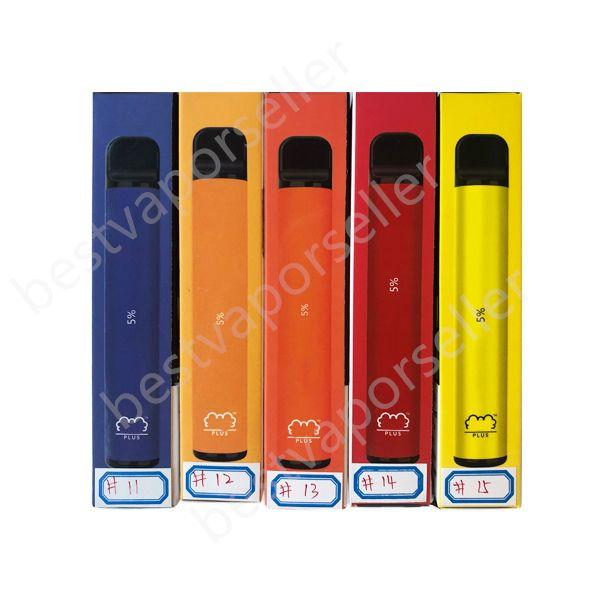 Hot Puff Plus Einweg-Pods-System-Geräte-Starter-Kits 550mAh-Batterie 3.2ML-Kartuschen Vape-Pen-Puffleiste tragbare E-Zigaretten-Verdampfer