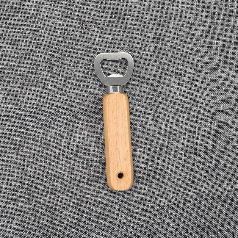 Tire-bouchon en acier inoxydable à main poignée en bois bière ouvre haute bouteille qualité Ouvre-cadeau Accueil Kitchen Tools Livraison gratuite AAF2838