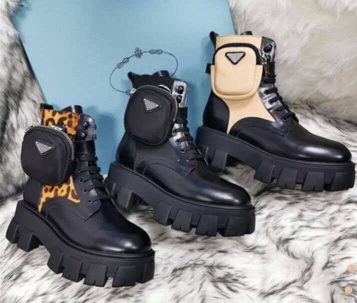 أعلى جودة Rois مارتن الأحذية النساء الكاحل جلد طبيعي نماذج القتال العسكرية منصة حقيبة الأحذية الثلاثي جلد البقر أحذية دراجة نارية