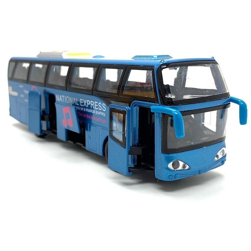 1:32 Modèles de voitures alliages, autobus de la ville haute simulation, diecast, véhicules de jouets, retrait de la décoration de poche musicale clignotant intérêt Y200109