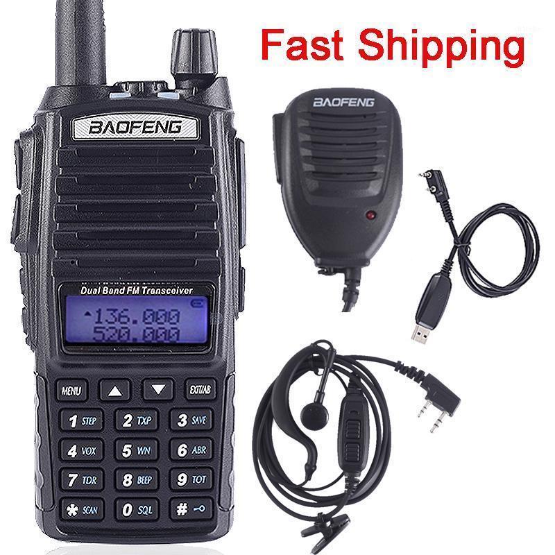 BAOFENG UV-82 Walkie Talkie Dual-Band 136-174 / 400-520 MHz FM Jamón Radio de dos vías VHF UHF, Transceptor de caza, UV82 5W 8W1