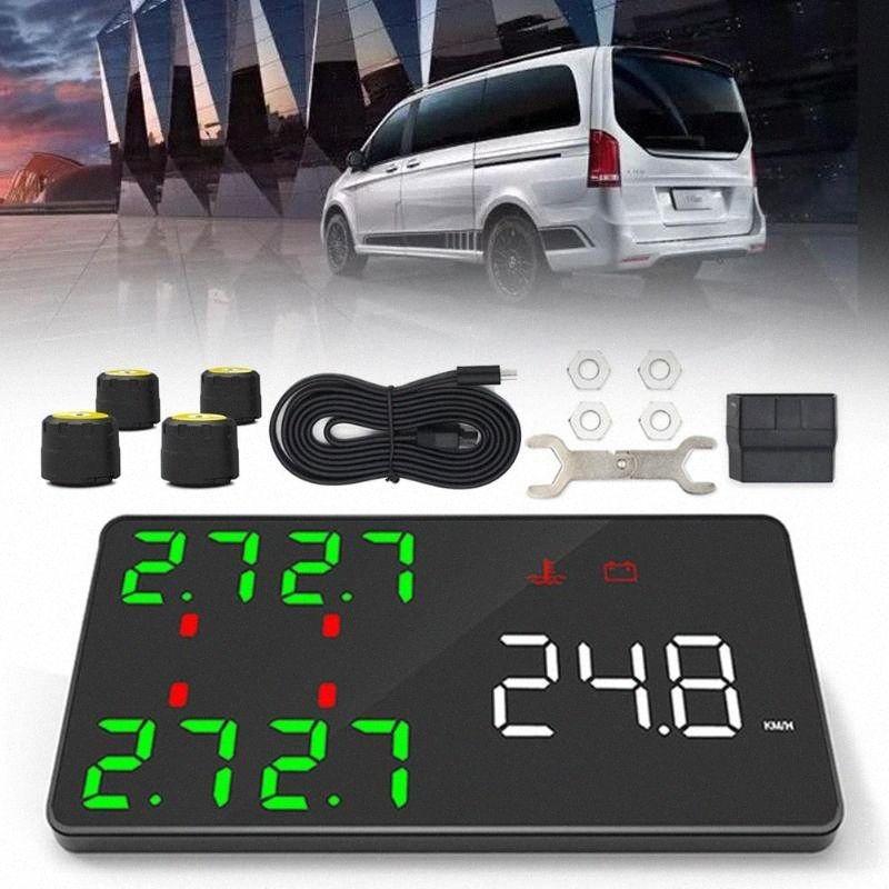 12V HUD Head Up Display Auto Interior Accessories Car Head-up Display HUD External Tire Pressure Monitoring hGpc#