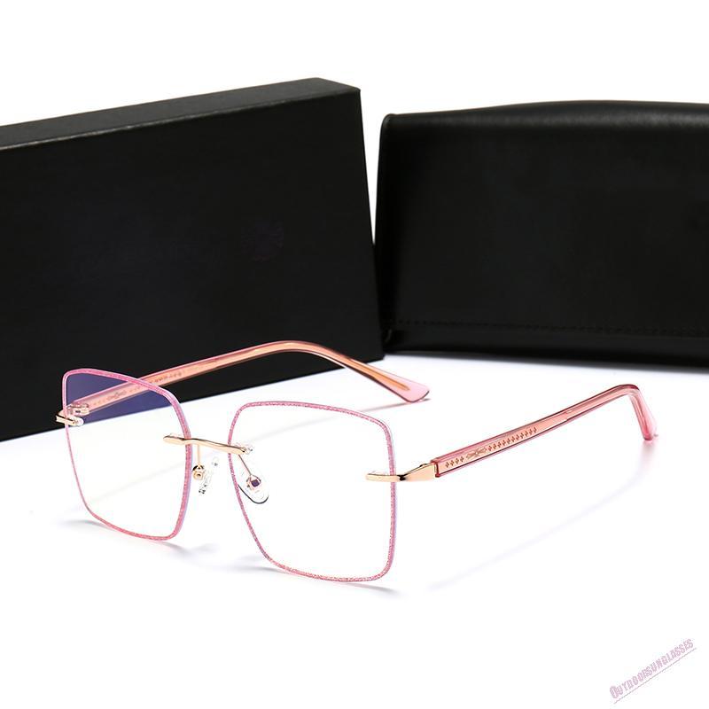 Sonnenbrille Frauen Beliebte Mode Große Hohlrahmen Sommer Stil Top Qualität UV-Schutzobjektiv Kommen Sie mit Fall