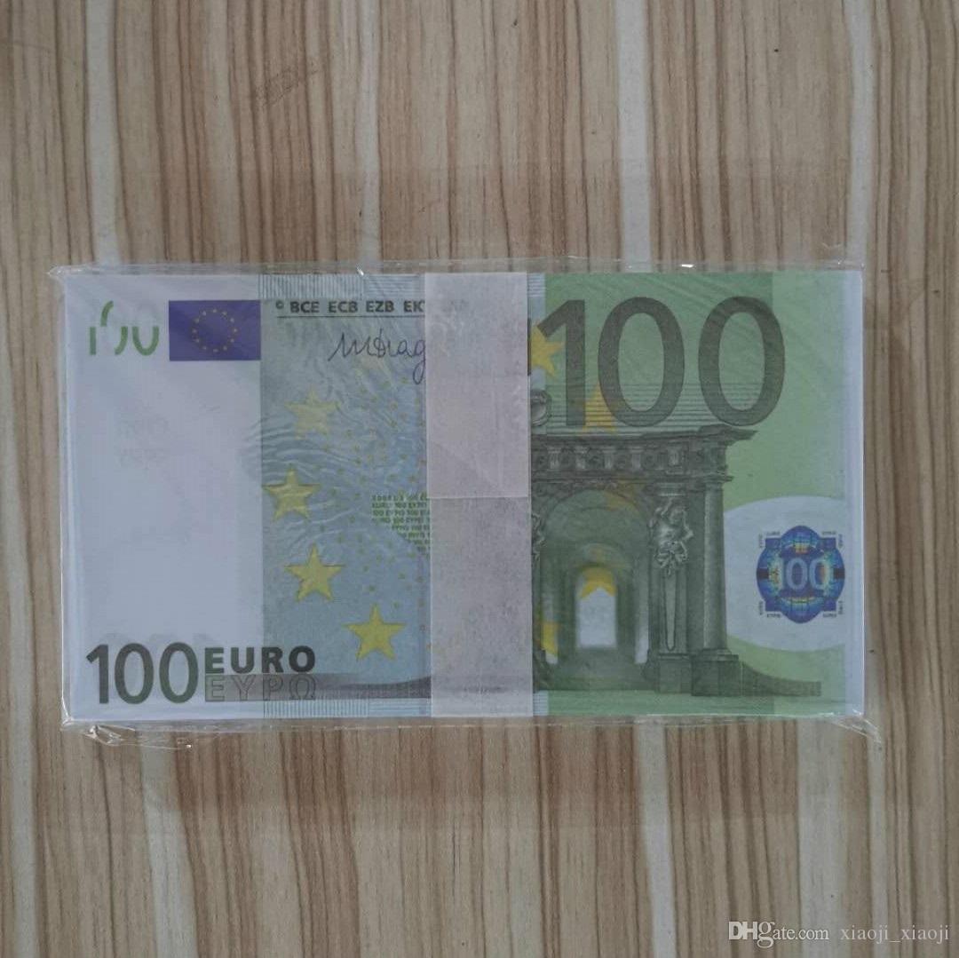 Geld präsentiert Faux-Währung Copy-Prop-Money-Bühne Urlaub Bar 100 Kinder Spielzeug Party Billet Banknote Euro Trick Atmosphäre Stütze Collec Liws