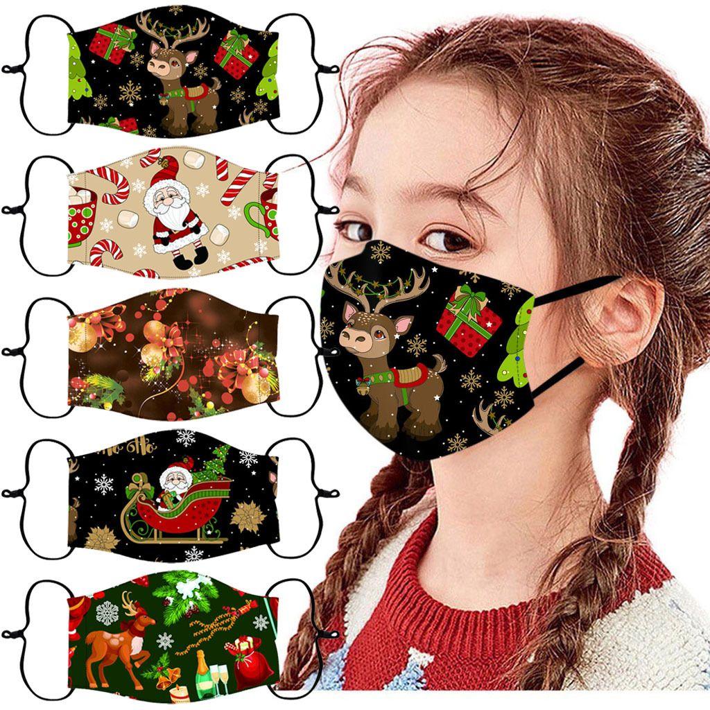Маска доставка DHL Christmas Face для детей Регулируемого уха Loops пыл ветрозащитного Mouth крышка дышащих Защитных маски Kimter-B251F