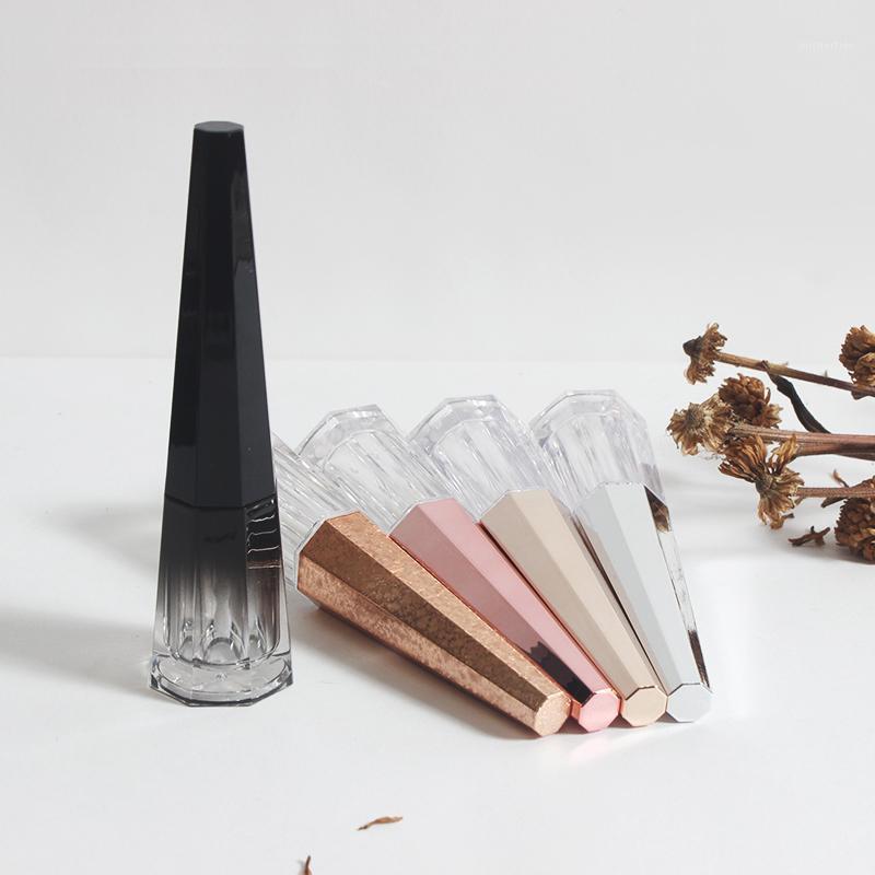 Бутылки для хранения JARS 20/50 шт. 4.5 мл восьмиугольной губной глянцевой трубкой прозрачный липбалм трубы раковина с серебряной крышкой DIY пустой косметический повторный
