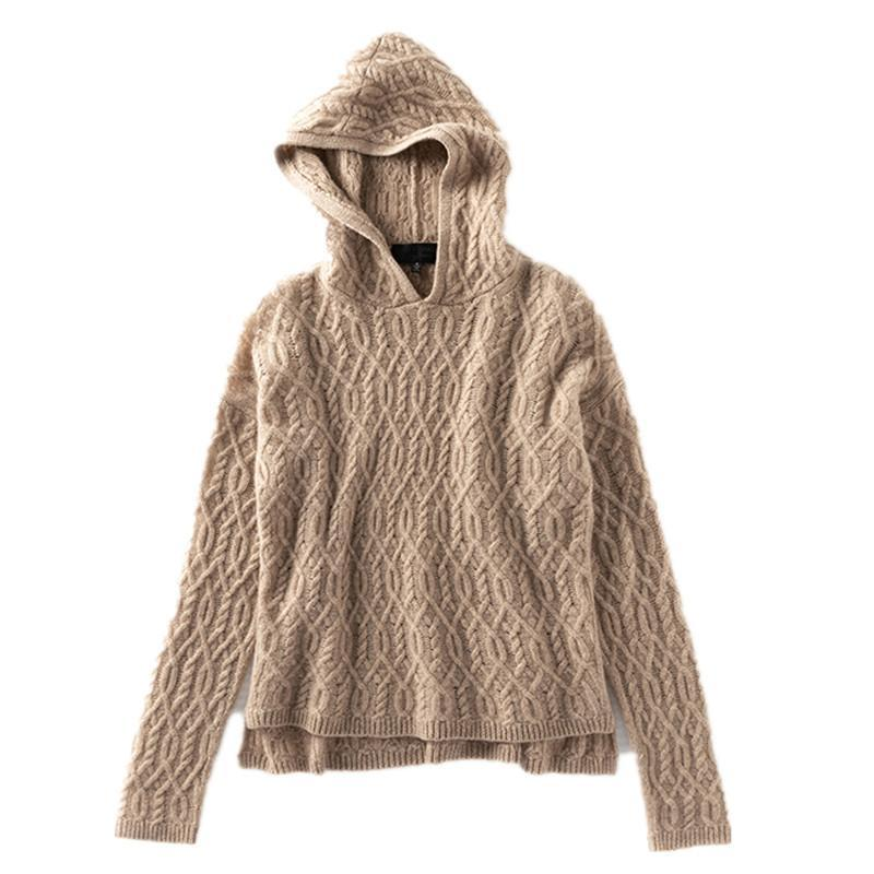 Européen et américain Vintage Style automne hiver femmes capuche lâche chandail D629 gros dames sexy