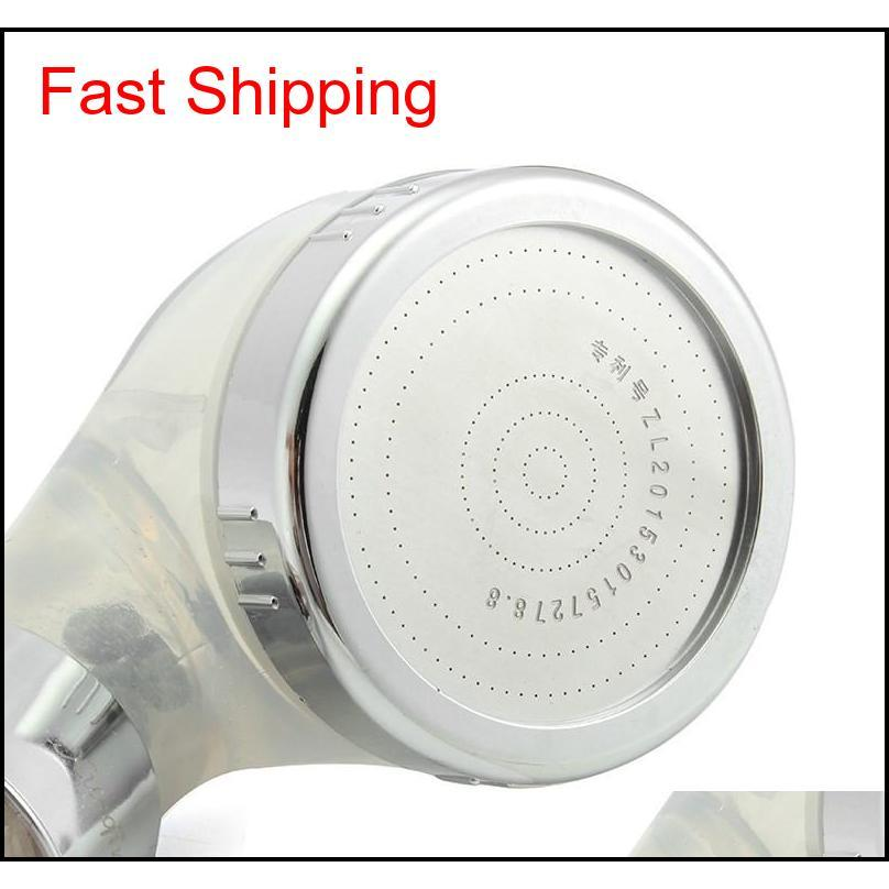 Ванная комната Душевая головка Booster ABS Пластиковый Спа Анион Душ Душ Водосберегающий Портативное Высокое Давление Дождь Душ H Qylsei YH_Pack