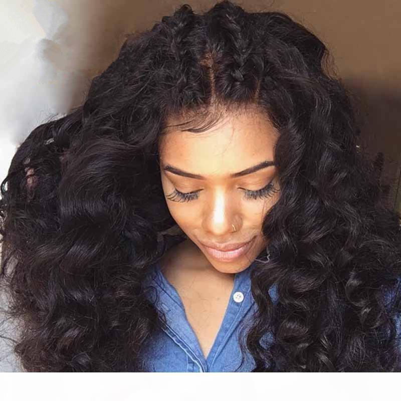 Forte densité 180% cheveux humains pleine perruque de dentelle de mode bouclés Glueless avant de dentelle perruque noire femmes afro-américaine