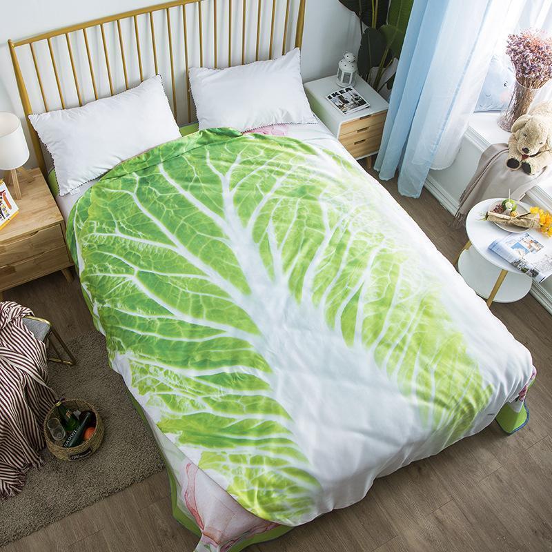 Drop Shipping Gemüse Quilts Shape Decke 1 stück Sommer 3D Druck Bett Taro Krabbenabdeckung Hummer Heißer Tortilla Fisch Duvet 220 * 235 cm1