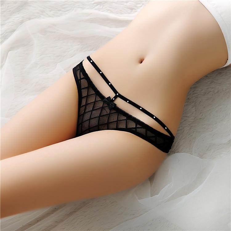 Mulheres sexy cristal bowtie cintura calcinha cuecas gaze ver através de roupa interior thongs t volta g corda sexy lingerie roupas e arenoso novo