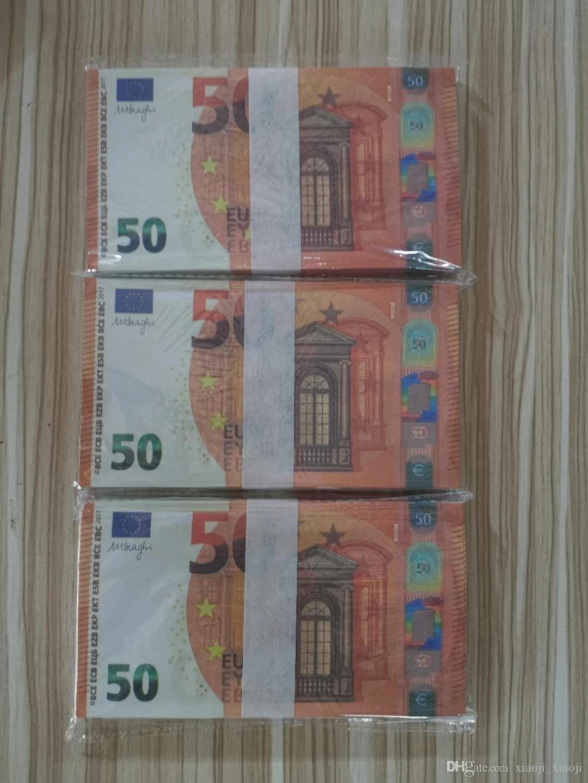 Giocattolo Puntelli gioco Fast token Euro Festival e di valuta 50 Simulazione Adult Shooting Commercio all'ingrosso Play Collezione Coin Gifts 18 Tnexg