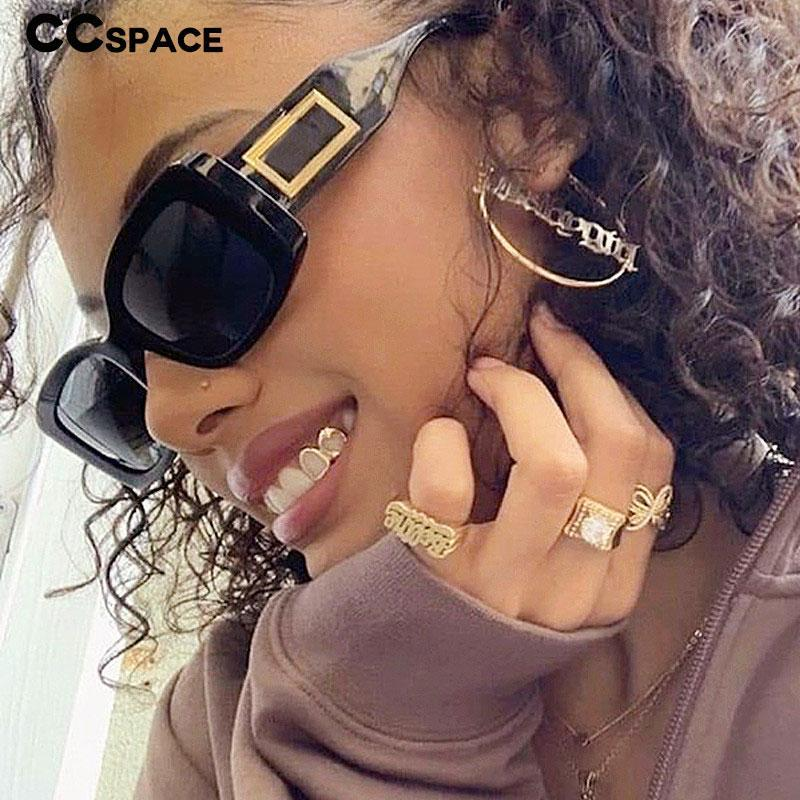46388 Vendimia Moda UV400 Gafas de sol Hombres Gafas cuadradas Vintage Shades Punk Mujer Jhmus
