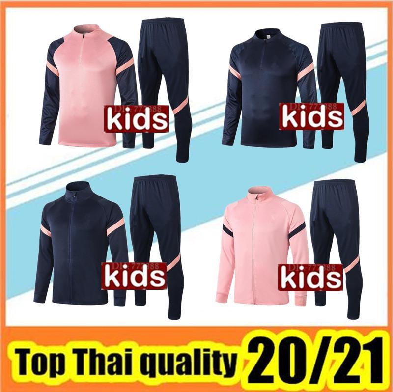 Детский футбол куртка набор футбольный трексуит 2020-2021 детский футбольный тренировочный костюм выставки Chandal Jogging
