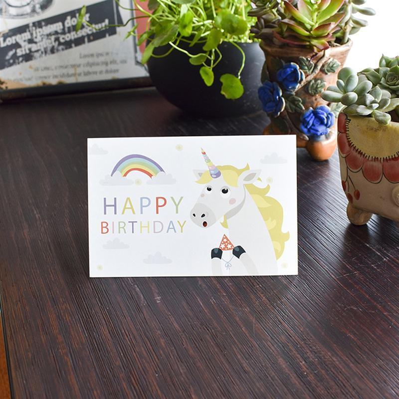 Pcs Creative Cartoon Greeting Cards Lovely Children Birthday Greeting Cards Festival Gift Supplies (with Envelope)