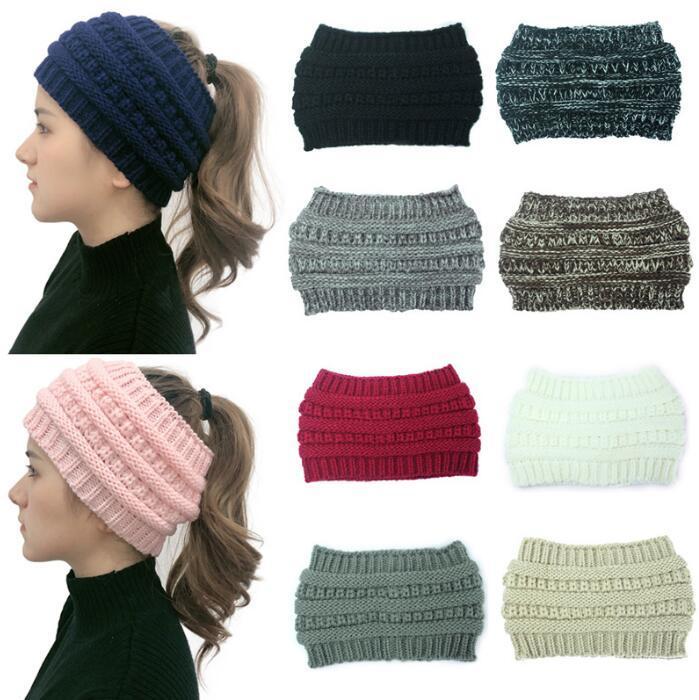 Malha Crochet Headband Mulheres Winter Sports Hairband Turban Yoga cabeça banda Ear Muffs Cap Headbands favor de partido 10 cores KKB2894