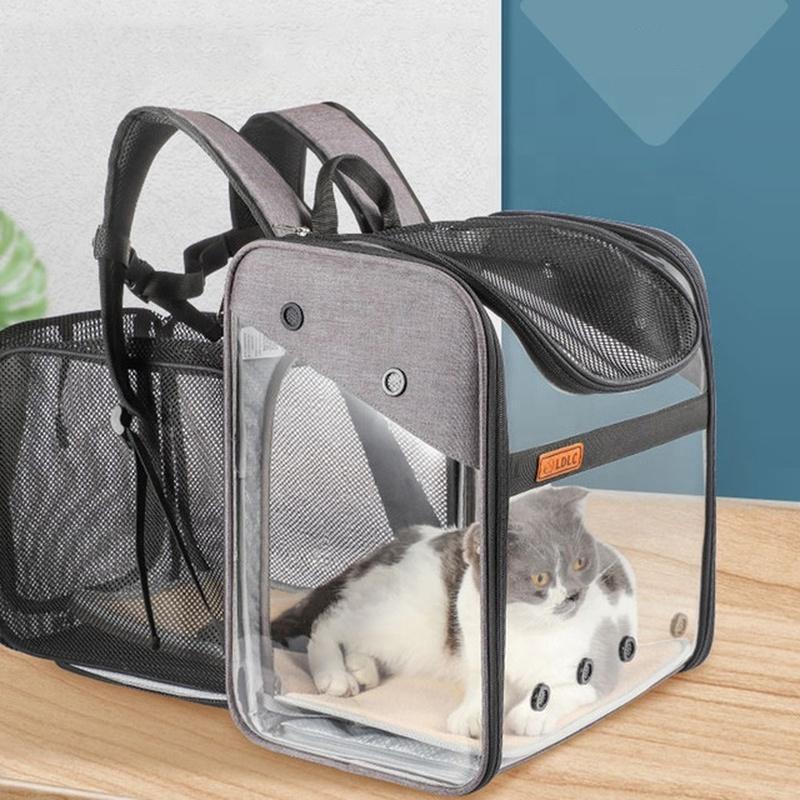 Kedi Şeffaf Pet Nefes Pet Ürünleri Kedi Katlanır Taşıyıcı Sırt Çantası Tasarımcısı Taşıyıcı PVC Çanta Sırt Çantası Genişletilebilir Kafes Geri Kehai