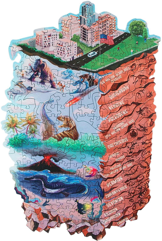 Деревянные головоломки - эволюция - нерегулярные кусочки - красочная головоломка для любимого эволюции