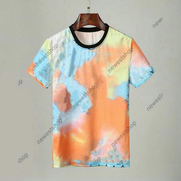 Diseñadores de verano para hombre Tshirts Ropa Tshirt Star Color Letra Impresión Impresión Casual Camiseta Mujer Camiseta de lujo Camiseta TOPS TOPS