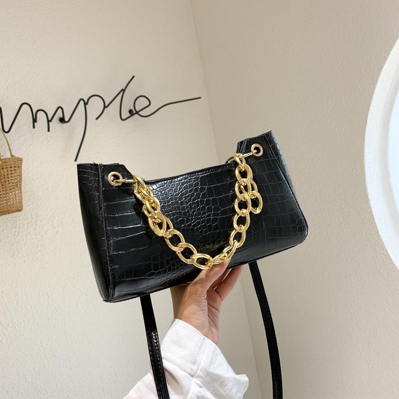 k0NQA Chain women's ins bag2020 one crocodile new personalized handbag for summer bagshoulder Bag shoulder armpit hX3zq