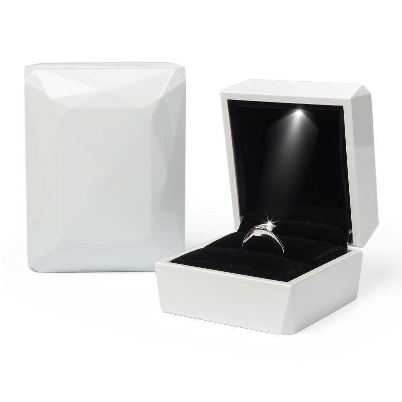 New Fashion Gold Bianco ROSA ROSA ANELLO ORO ROSA, Scatola del pendente Scatola di visualizzazione dei monili LED Pittura di gomma Gioielli PPD3886