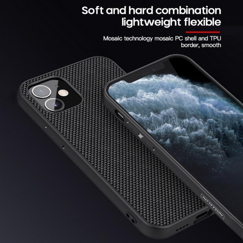 Pour iPhone 11 Pro Max NILLKIN texturé fibre de nylon couverture arrière de cas pour IPhone 11 Pro 6.5 pouces Cas de téléphone antidérapante durable