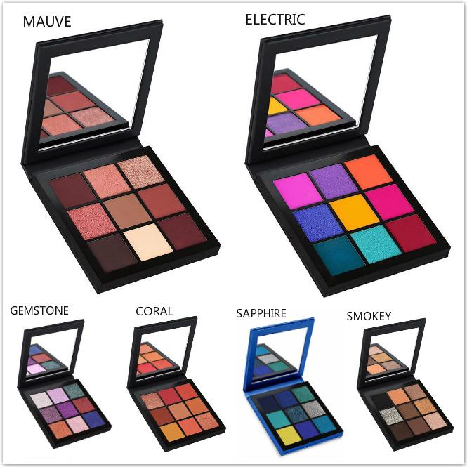 9 Renk Paleti Güzellik Sırlı Makyaj Göz Farı Paleti Topaz Pallete Makyaj Makyaj Paleti Smokey Pırıltılı Taş Göz Farı Maquillage