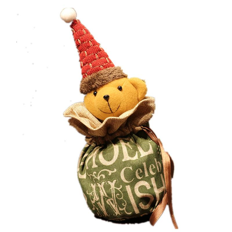 Бесплатная доставка 2020 Новый мультфильм Рождественский подарок конфеты сумки милый Рождество Apple, мешок подарков Рождественские украшения F9503