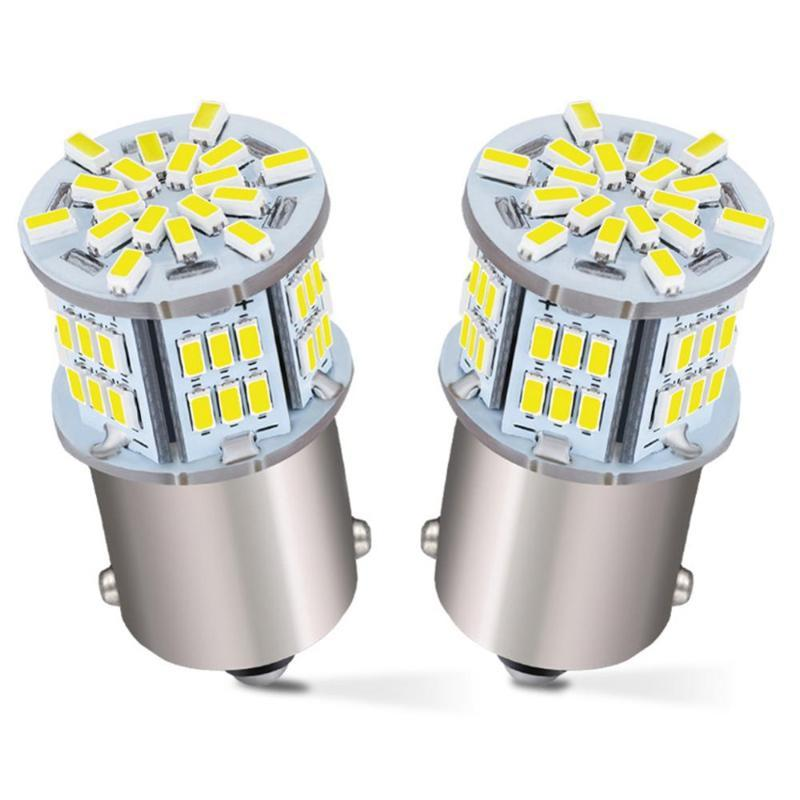 2x 1156 LED Bulb 6000K White, 1003 BA15S 1141 7506 LED Replacement Light Bulbs for RV Car Camper Trailer Interior Indoor Lights