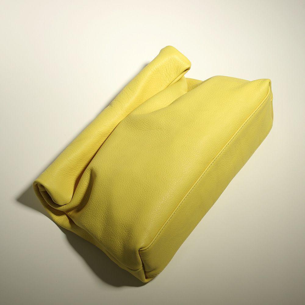 HBP конфеты цвет кожа маленькая группа кошелек личности ленивый повседневная керлинг ручной сумка верхний слой коровьей обед сумка женская мягкая сумка желтый