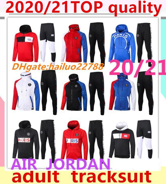 2020/21 Jordam Paris ceket hoodie Survetement 2021 Paris MBAPPE futbol ceketler futbol HOODIE eşofman