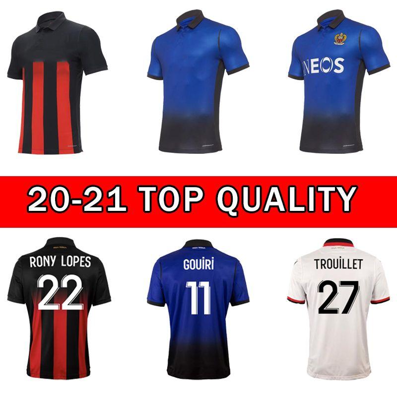 20 21 OGC Nice Futebol Jerseys Dolberg 2020 2021 Atal Lees Melou Cyprien Camisas de futebol Rony Lopes Claude Maurice Maillot de pé