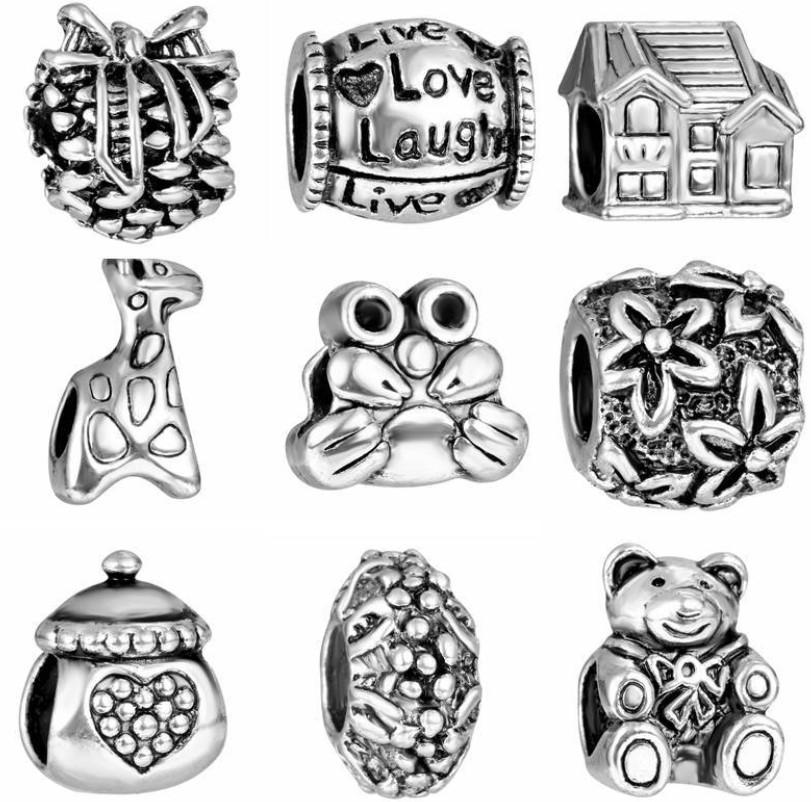 Direct selling jewelry beads, ancient silver, macroporous alloy beads, isolated beads, hot sale in Europe and America, quick sale, wholesale