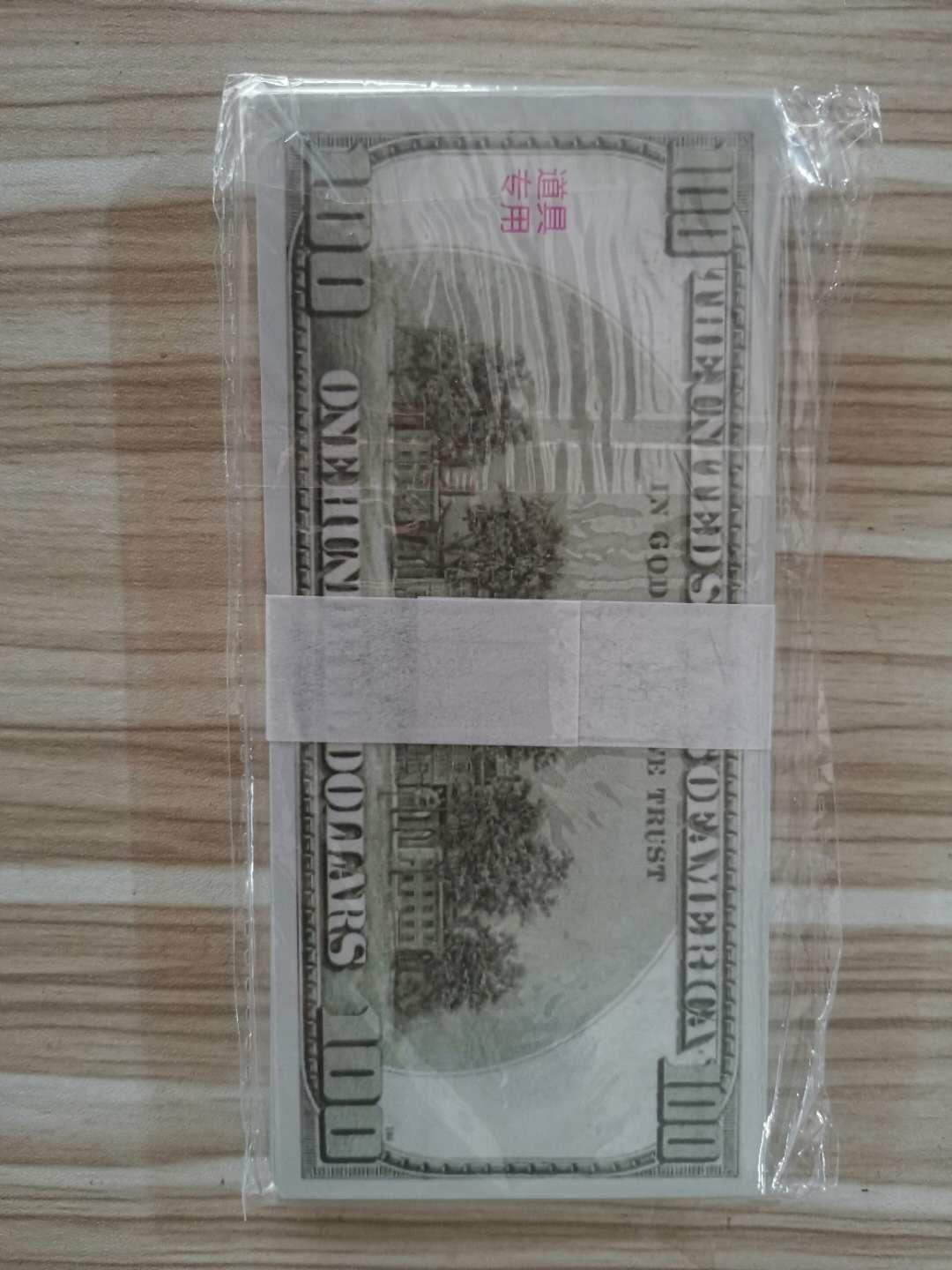 2Hot selling counterfeit DOLLAR euro banknote toy movie props old version of $100 practice notes game 100 tokens