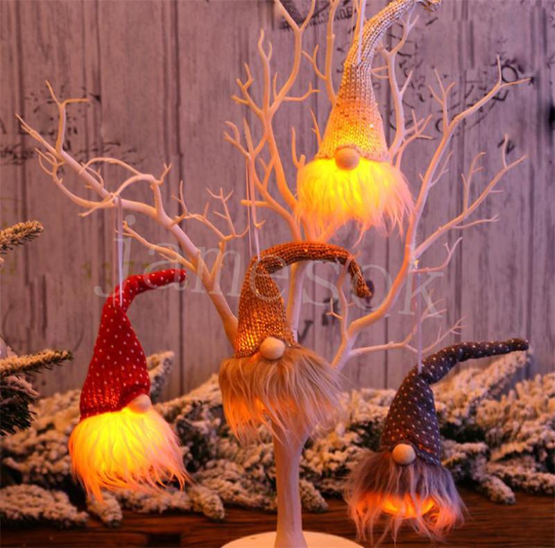 عيد الميلاد زخرفة شجرة عيد الميلاد الديكور قلادة ليلة ضوء متوهجة الجدار شنقا قلادة عطلة ديكور هدية DB136